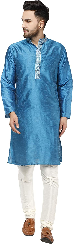 SKAVIJ Hommes Tunique Kurta Pyjama Robe De F/ête Mariage