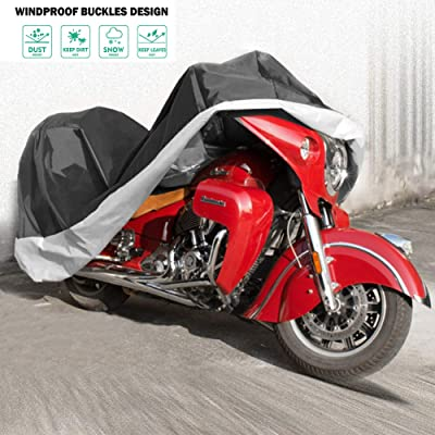 ZEMANOR Motorcycle Cover All Season Universal Weather,Waterproof, Anti - UV, Anti - Dust, High - Grade Motorcycle Cover: Automotive