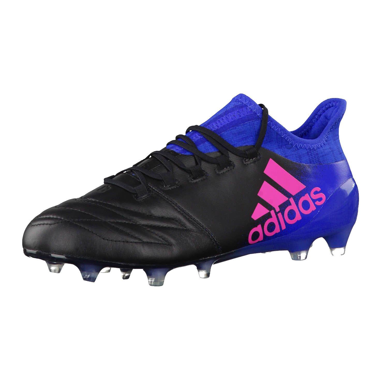 Adidas Herren X 16.1 Leder Fg für Fußballtrainingsschuhe, Schwarz (Nero Negbas Rosimp Azul), 42 EU