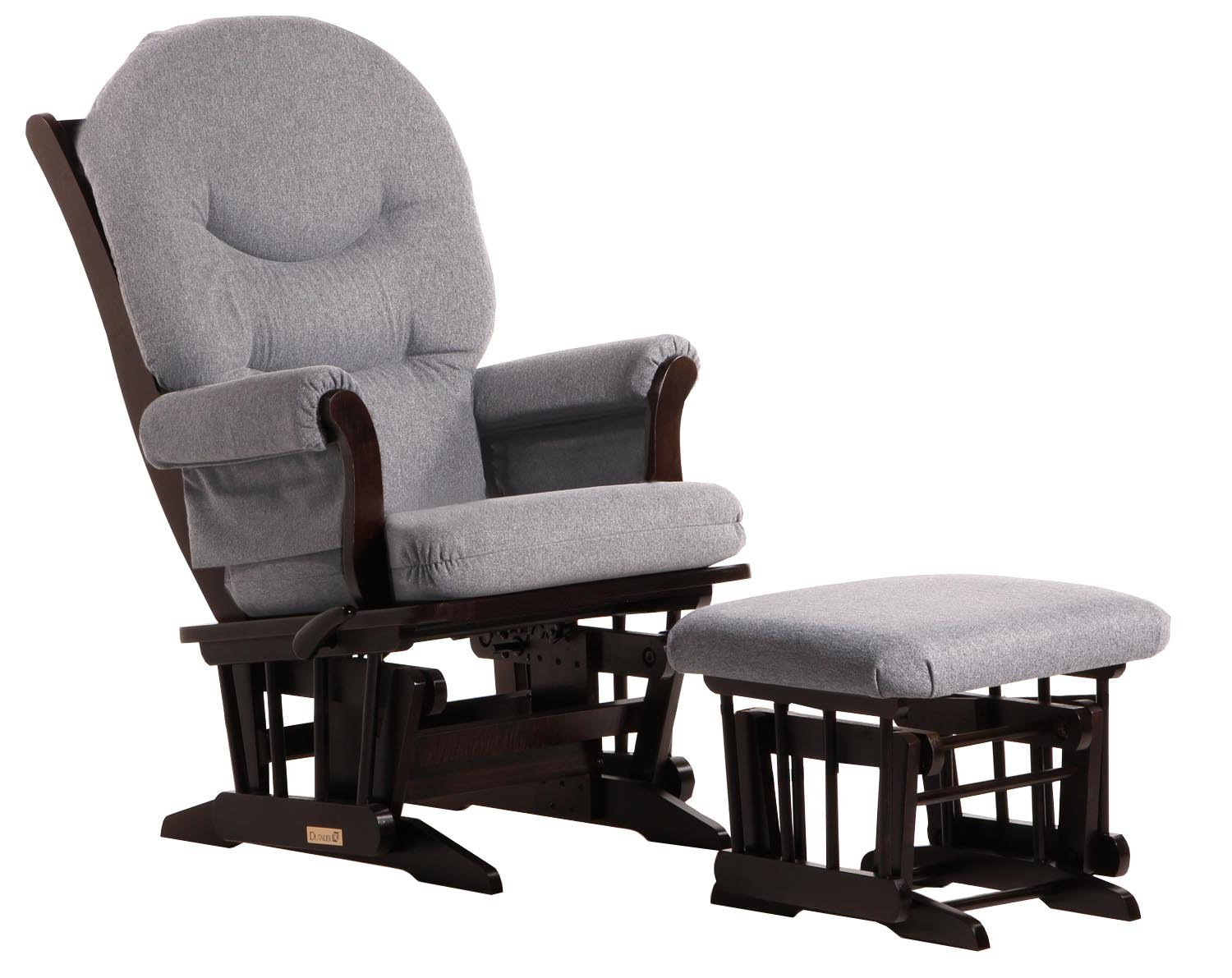 amazoncom dutailier sleigh recline and ottoman combo grey baby