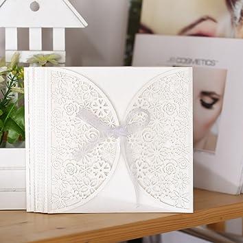 Amazon Com Romantic Wedding Invitation Card Delicate Carved