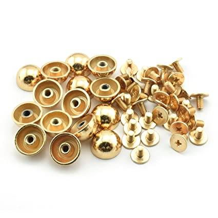 50pcs Feet Bag Bottom Studs Rivets For Leather Buttons Screw For Shoes Bag Clothes Hardware Belt Accessories For Bags Feet Screw Bag Parts & Accessories