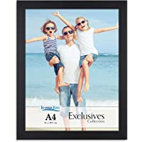 Icona Bay A4 Document Frame (Black, 1 Pack) Sturdy Wood Composite Certificate Frame, Sleek Diploma Frame, Table Top or…