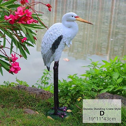 danmu 1pieza Poly – Figuras decorativas grúa para el hogar y el jardín decor: Amazon.es: Jardín