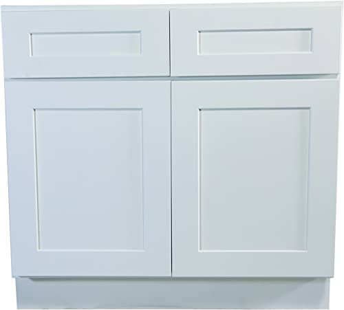 Design House Brookings 36-Inch Base Cabinet, White Shaker