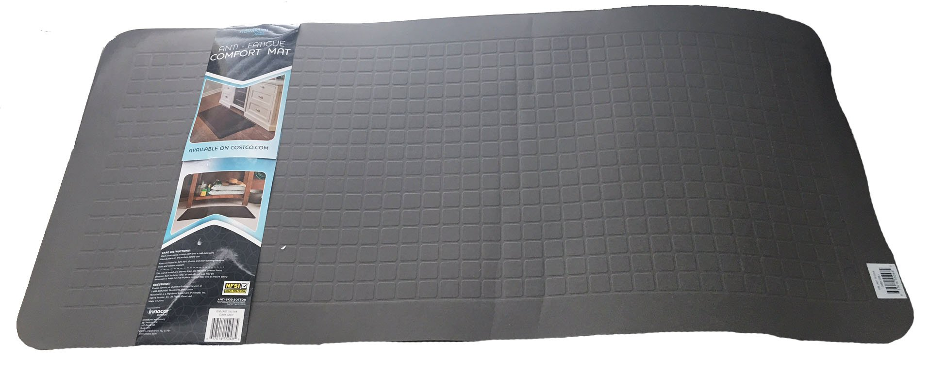 Novaform Dark Grey Anti-fatigue Comfort Mat 20'' x 42'' by Novaform