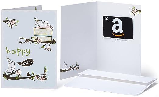 Amazon.com: Amazon.com $10 Gift Card in a Greeting Card (Birthday ...