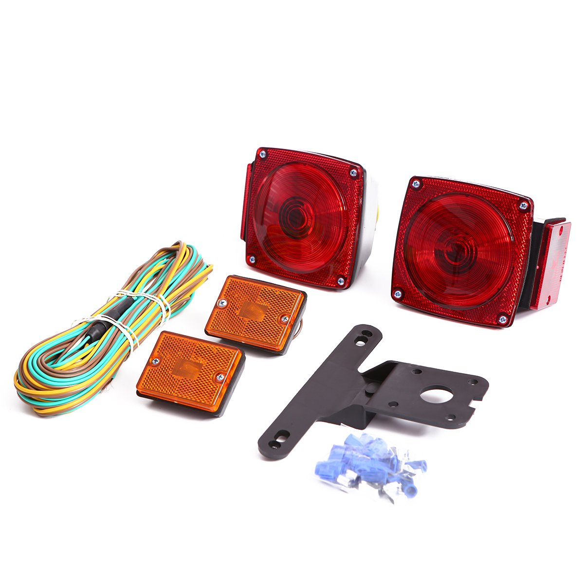 CZC AUTO Universal 12V Mount Combination Trailer Light Kit for Under 80'' Trailers Trucks RV Snowmobile