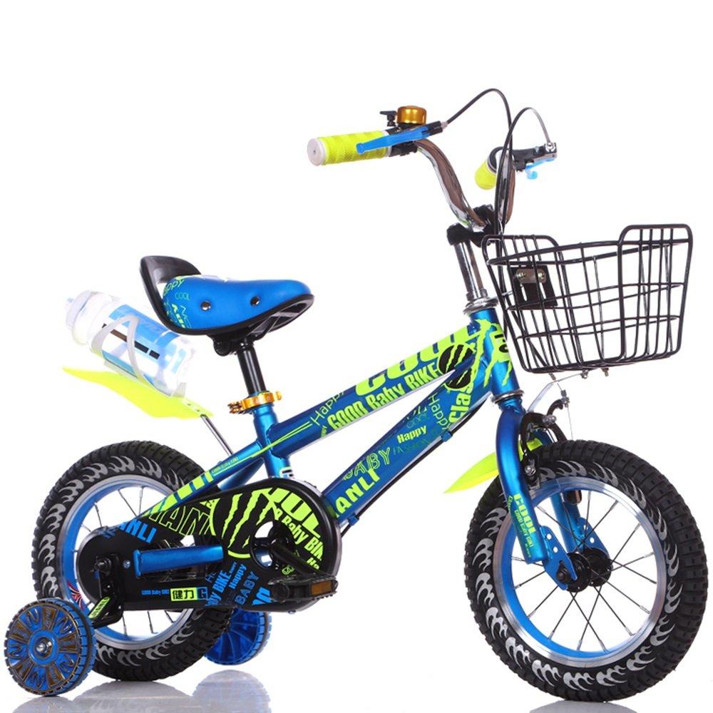 子供用自転車、男の子用ベビーカー、女の子用自転車、子供用サイクリング ( 色 : 青 , サイズ さいず : 124cm ) B078KNTX9X 124cm|青 青 124cm