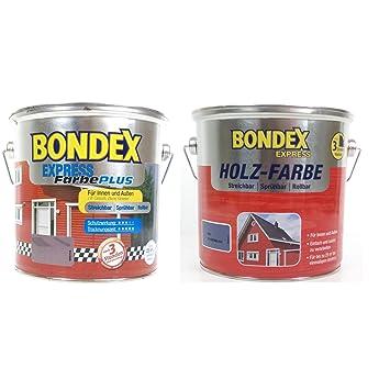 Captivating Bondex Express Holzfarbe 800 Weiss 4 Liter Für Innen Und Aussen