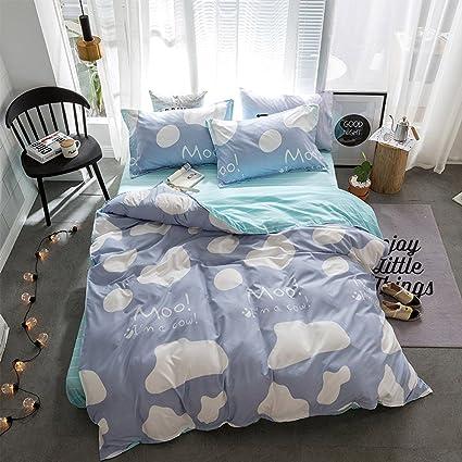 Amazon.com  Hxiang Blue small cow Bedding women s cartoon Duvet ... 52702c3751