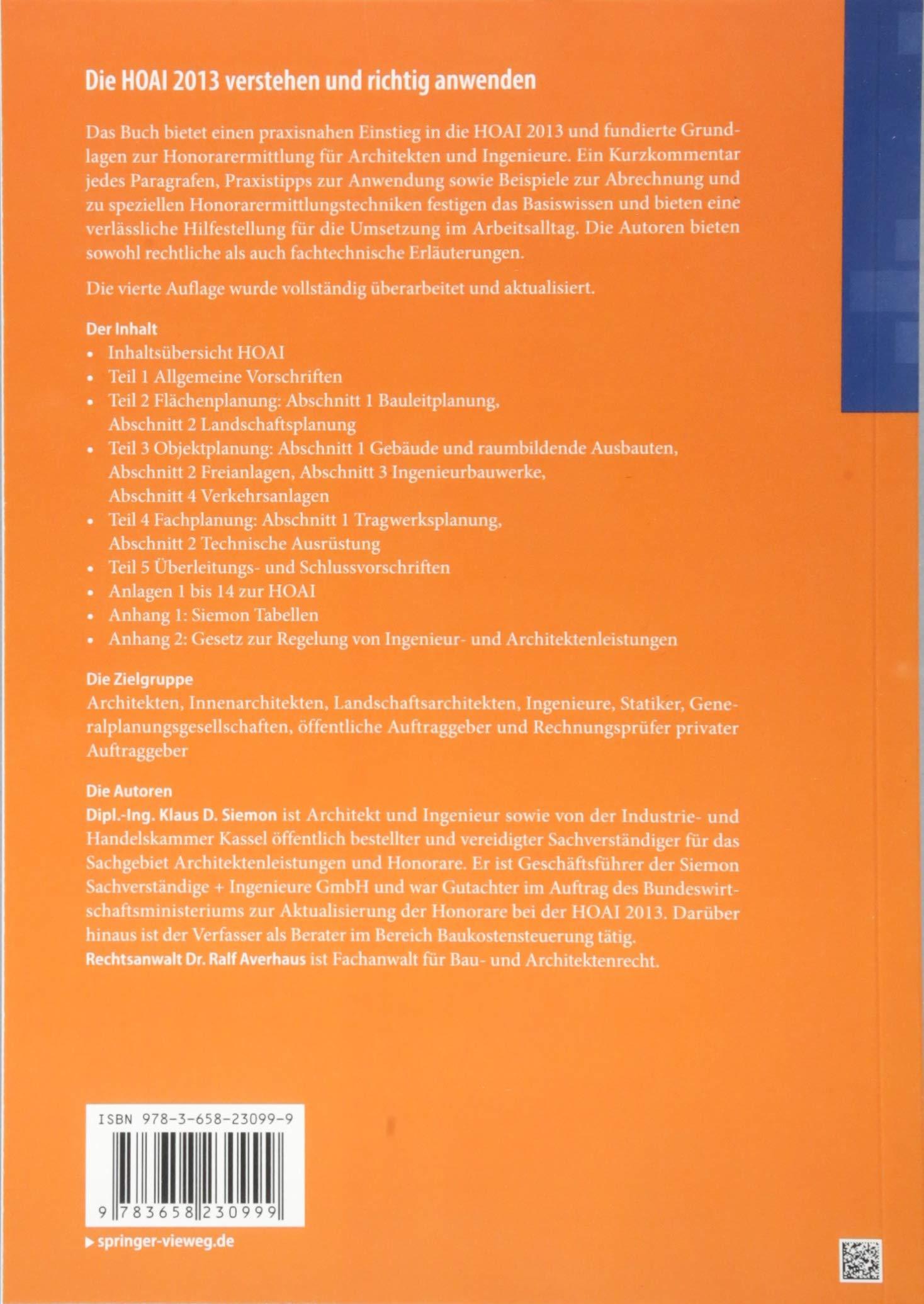 Die Hoai 2013 Verstehen Und Richtig Anwenden Mit Beispielen Und