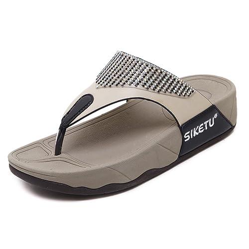 Damen Sommer Sandale Zehntrenner Skechers Sandalette