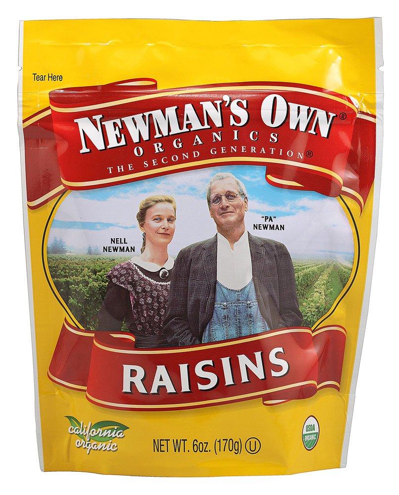 Newman's Own Organics California Raisins (12x6Oz)