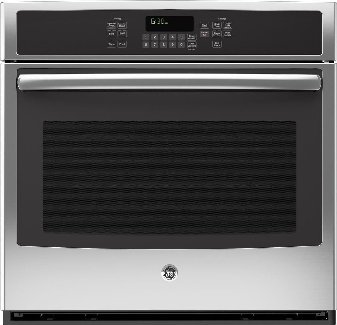 GE JT5000SFSS 30'' Stainless Steel Electric Single Wall Oven - Convection