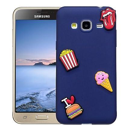 Funda Samsung Galaxy J3 2016 SM-J320F Carcasa Protectora Lindo OuDu **Diseño 3D** Funda para Samsung Galaxy J3 2016 SM-J320F Caso Silicona TPU Anti ...