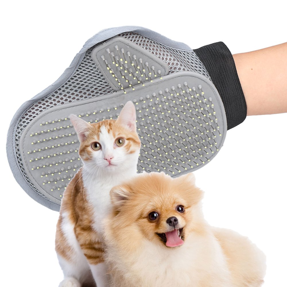 Pets Grooming Brush Pet Glove Cat Dog Shedding Tools Bath Massager Mitt for Long Short Wet or Dry Hair