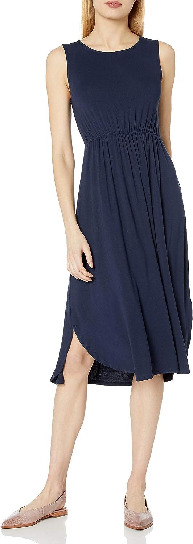 Daily Ritual Women's Jersey Standard-Fit Sleeveless Gathered Dress