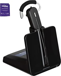 Plantronics CS540 Wireless Office Headset Bundle with Headset Advisor Wipe (Renewed)
