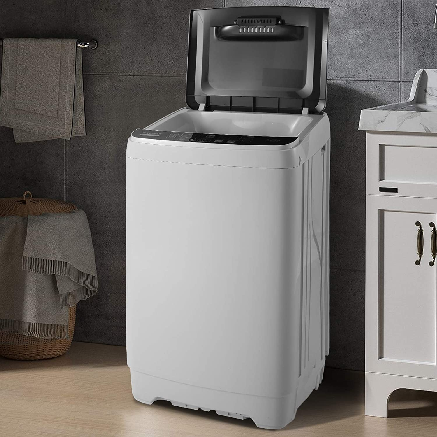 Appliances 13.5Lbs Capacity Full-Automatic Portable Washer with 10 ...
