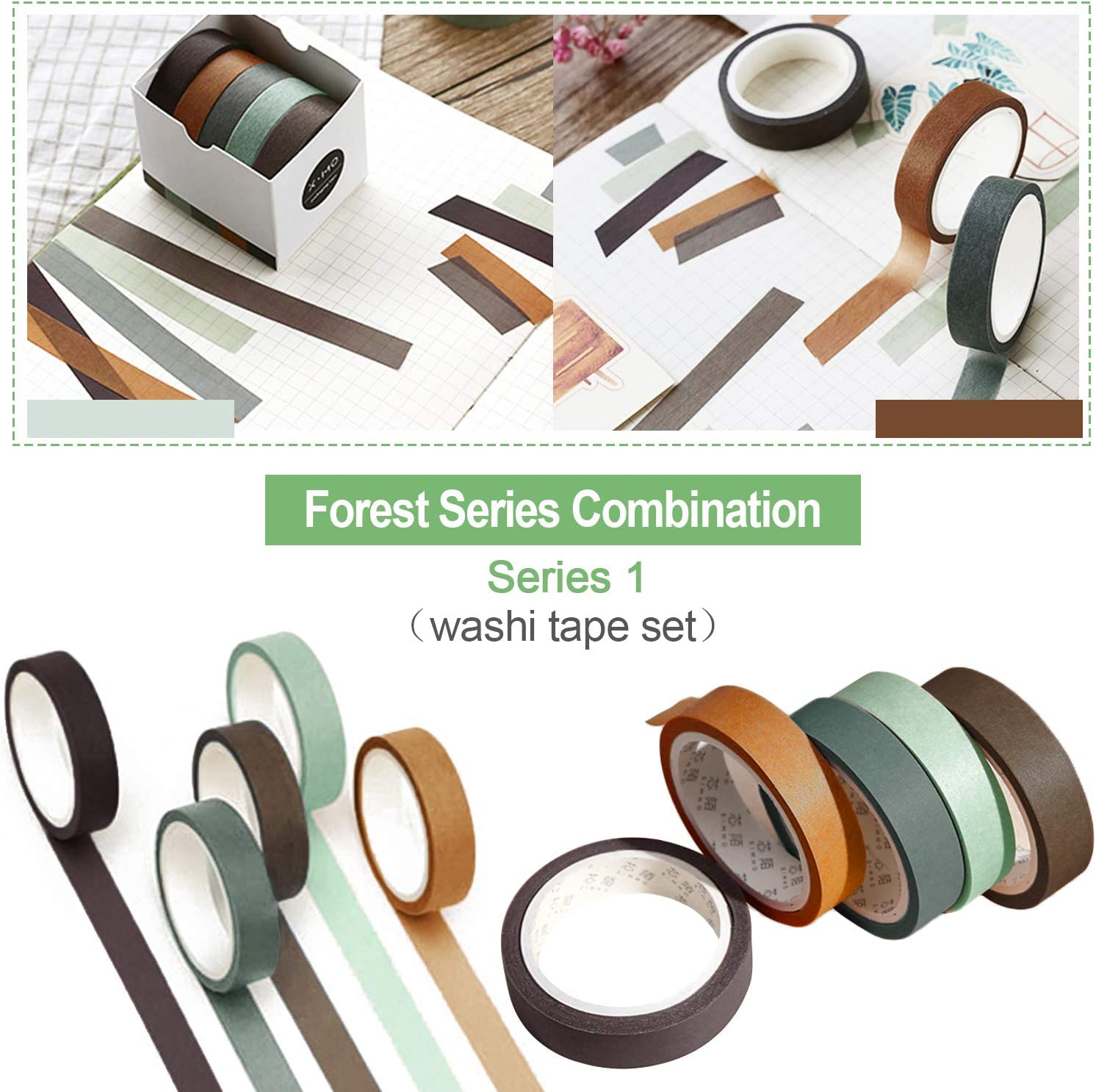 3 Boxes Solid Color Washi Tapes EBANKU Colorful Masking Tape Set Labeling Craft Tape for DIY Decorations Scrapbooking Supplies Kids Teachers /& Painters 5 Rolls in a Box