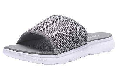 36ccc4edb501 CAMEL CROWN Womens Slides Comfortable and Lightweight Sport Slides Sandals  for Women Grey 6