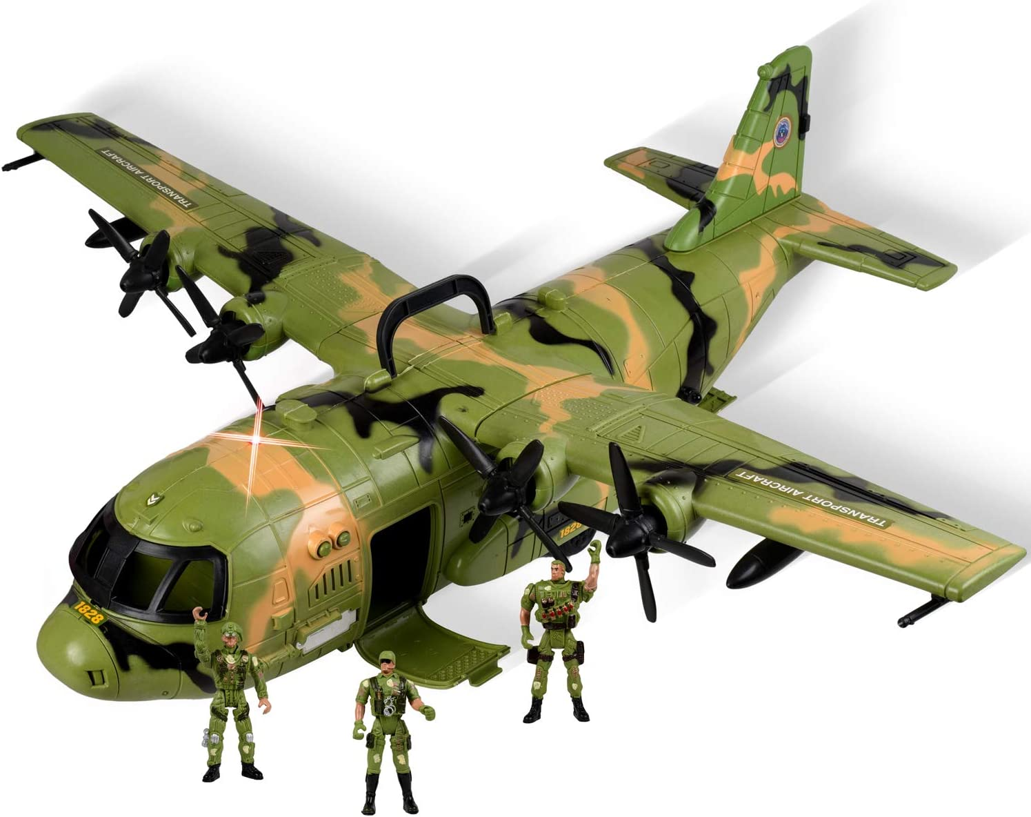 Military Combat Air Force Airplane C 130 With Lights And Sound