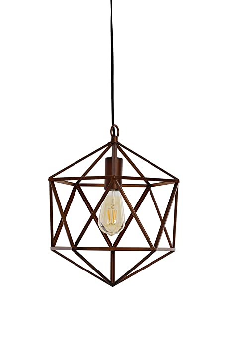 Catalina Lighting 20067 000 Geo Swag Pendant Light Geometric Brown