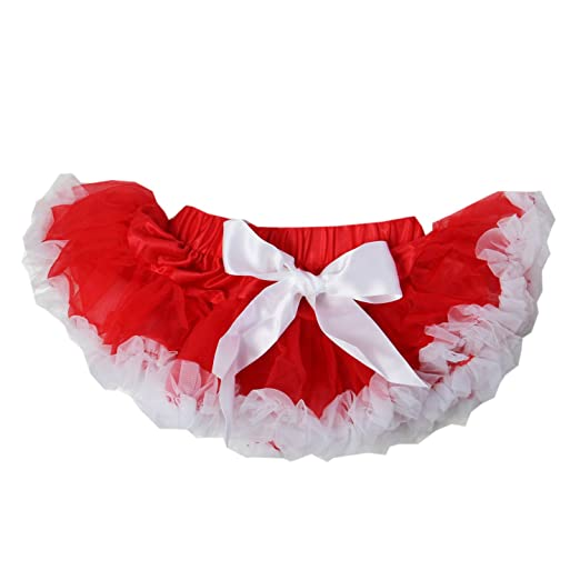 11c2cc44f3 Amazon.com: Kirei Sui Newborn Baby Red White Pettiskirt: Clothing