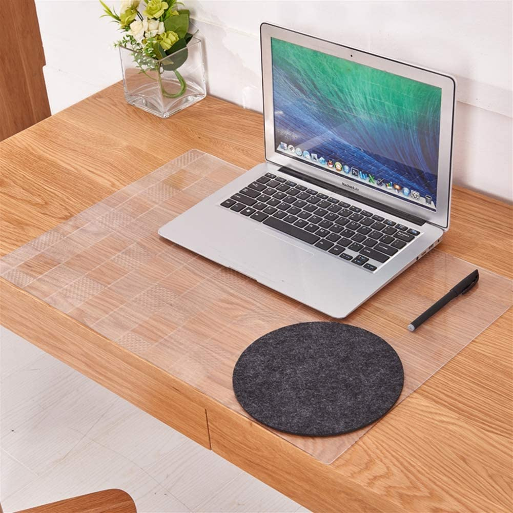 SK Studio Large Office Desk Pad PC and Laptop Scrub 63x35.4 Waterproof PVC Transparent Mouse Pad for Desk Cover Computer Keyboard