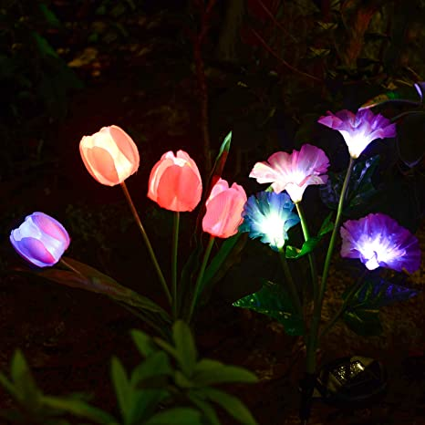 Charmant Solarmart Outdoor Solar Garden Lights   2 Pack Solar Powered Lights, Multi  Color Changing