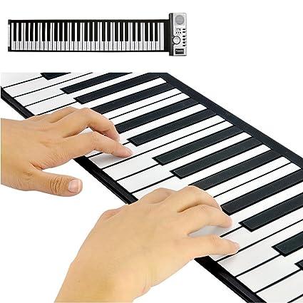 ULable Teclado De Piano Digital De 61 Teclas Flexible Plegable Portátil Teclado Del Piano Digital Eléctrico