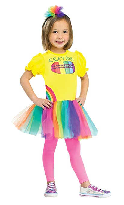 Fun World Costumes Baby Girl's Color Me Cutie Crayon Box Toddler Costume