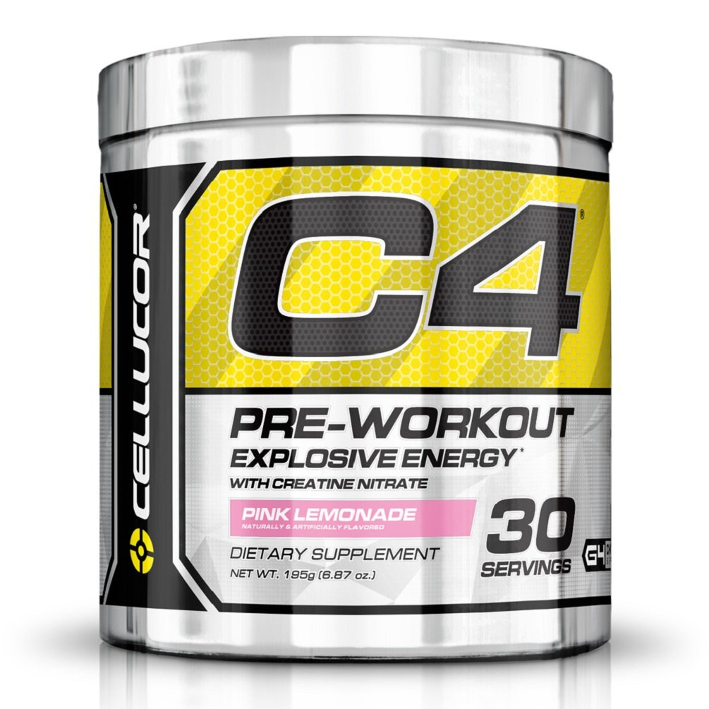 Cellucor C4 Pre Workout Supplements with Creatine, Nitric Oxide, Beta Alanine and Energy, 195 g (6.87 oz) 30 Servings, Pink Lemonade