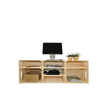 Meuble TV SH Kit Prêt à Assembler Caisses En Bois X - Assemblage de meubles en bois