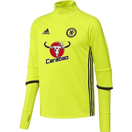 Adidas Chelsea TRG Top Sudadera, Hombre, Amarillo Rojo (Amasol/Negro / Granit