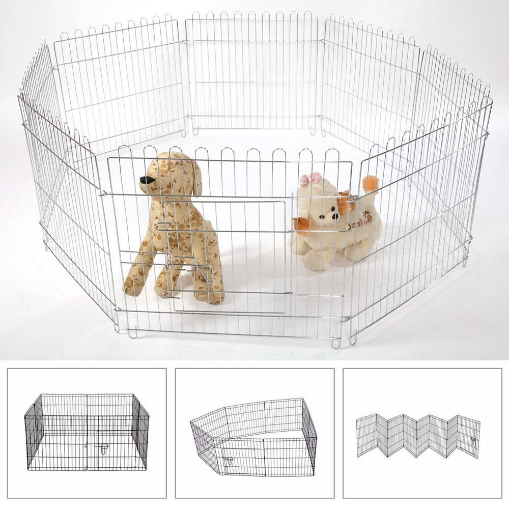 Generic .. et Play Exercise Dog Playpen og Playpen Crate Fence P 25  Electro Galvanized 25  Elect Crate Fence zed Panel Panel Foldable lvanized Pet Play Exercise
