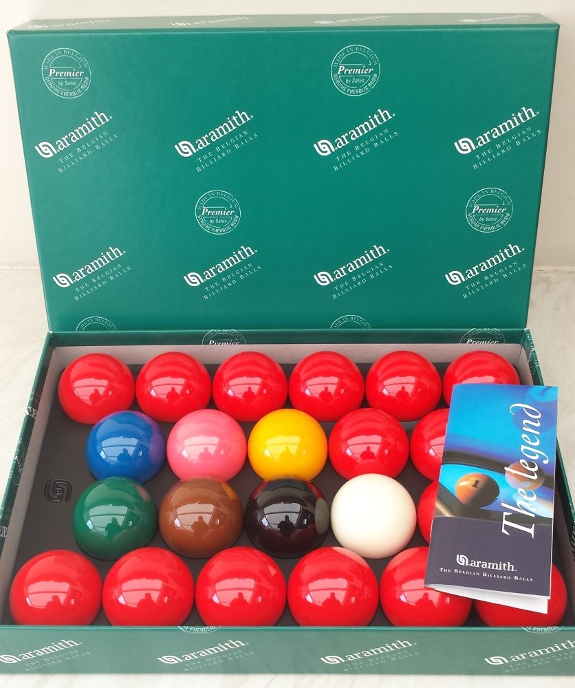 Aramith Standard Full-size Snooker Balls (2 and 1/16 inch) by Aramith