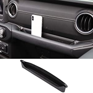 Voodonala for Jeep JL GrabTray Passenger Storage Tray Organizer Grab Handle Storage Box for 2018 2019 Jeep Wrangler JL JLU 2020 Gladiator JT