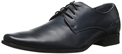 Calvin Klein Mens Willq Navy Leather - Oxfords