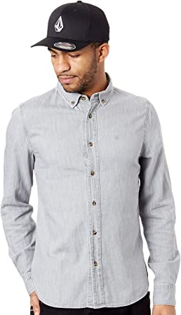 Volcom Men's Bayond LS Shirt Grey