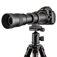 Fotga 420-800mm f/8.3-16 Super Téléobjectif Zoom Objectif pour Canon EOS 1D 5D 6D 7D 10D 20D 30D 40D 50D 60D 100D 300D 350D 400D 450D 500D 550D 600D 700D 1100D 1200D et plus DSLR / appareil photo reflex