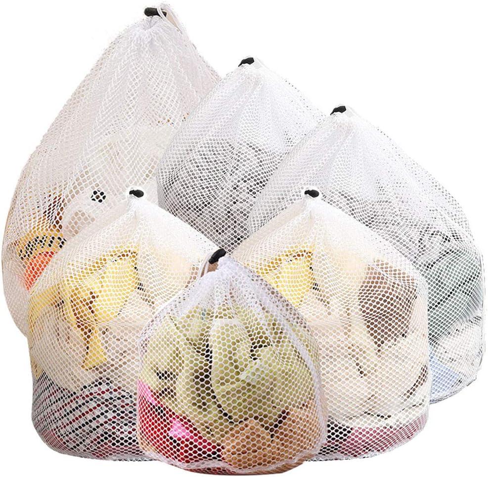 Lingerie e Capi delicati Set Composto da 6 Sacchetti portabiancheria Traforati per Indumenti Intimi JTENG Sacchetti per Lavatrice Borse