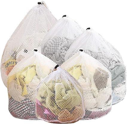 Lingerie e Capi delicati JTENG Sacchetti per Lavatrice Borse Set Composto da 6 Sacchetti portabiancheria Traforati per Indumenti Intimi