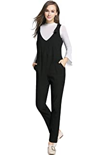 3ccc2dc0de09 JOYNCLEON Womens Maternity Overalls Adjustable Back Zip Opening Jumpsuits  Casual Pants for Pregnant Women