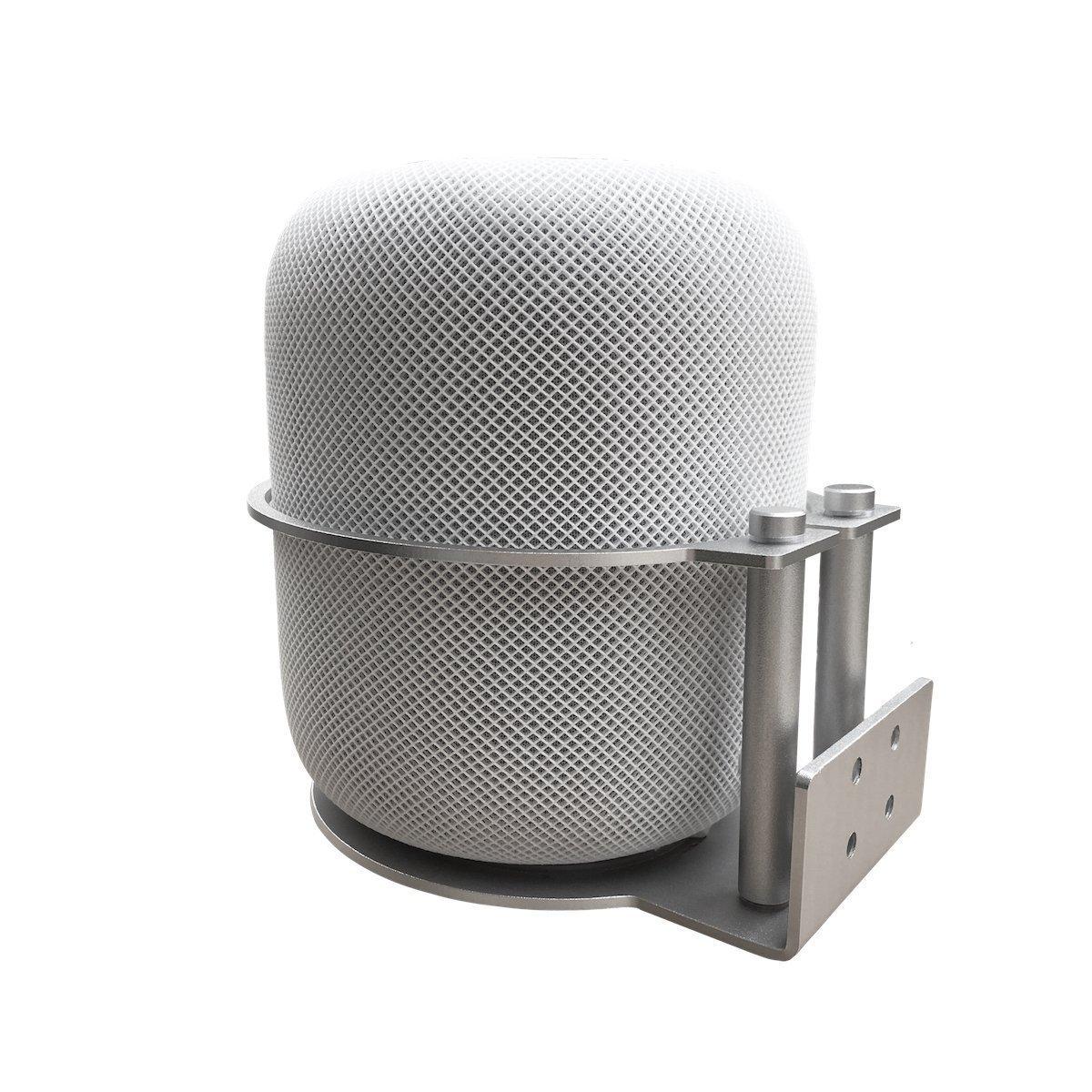 Staffa di montaggio portatile per montaggio a parete in alluminio portatile MERES per diffusori Apple HomePod (Argento) IT GSM MEHPM1