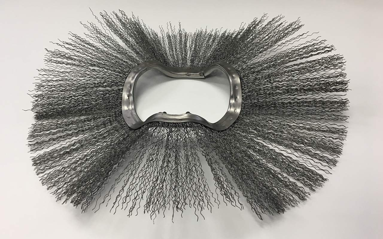 M-B Tough Brush Replacement Brushes for Various Sweeping Brooms and Machines. Poly /& Wire 24 x 6 3//8 Convoluted Combo Wafers