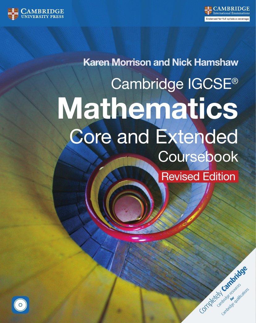 Download Cambridge IGCSE Mathematics Core and Extended Coursebook with CD-ROM (Cambridge International IGCSE) PDF