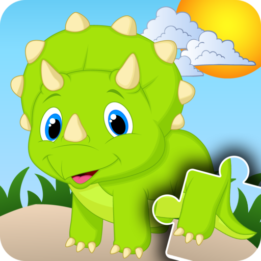 Dinosaur Jigsaw Puzzles for Kids - Fun and Educational Dinos Puzzle Game for Preschool Toddlers, Boys and Girls Ages 2, 3, 4, 5 Years Old]()