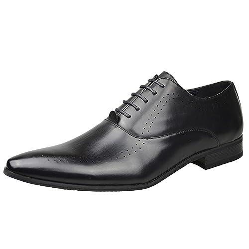 Hombre Cuero Símil Charol ELEGANTE mocasín Vestido Zapatos Boda Fiesta Ocasión Zapatos NÚM. GB 6